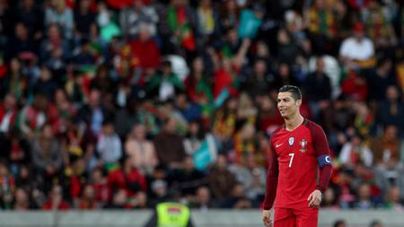 Cristiano Ronaldo saat membela Timnas Portugal. - INDOSPORT