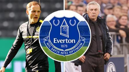 Thomas Tuchel, Everton, dan Carlo Ancelotti. - INDOSPORT