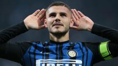 Indosport - Mauro Icardi usai cetak gol ke gawang Sampdoria.