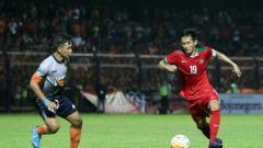 Indosport - Striker TimnasU-19, Hanis Saghara.