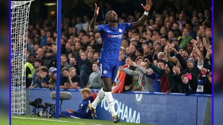 Selebrasi bek tengah Chelsea, Antonio Rudiger. - INDOSPORT