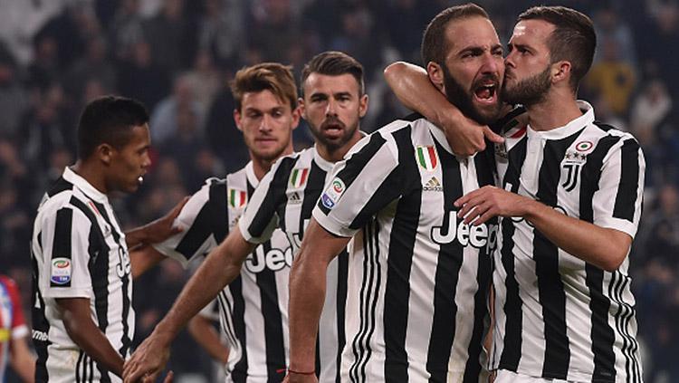 Selebrasi para pemain Juventus. Copyright: INDOSPORT