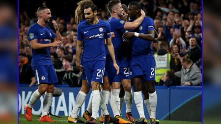 Selebrasi para pemain Chelsea. - INDOSPORT