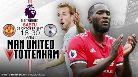 Manchester United akan menghadapi Tottenham Hotspur di pekan ke-10 Liga Primer Inggris 2017/18. - INDOSPORT