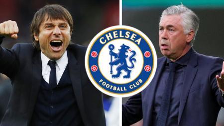 Antonio Conte dan Carlo Ancelotti. - INDOSPORT