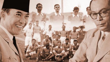 Soekarno-Hatta dan sepakbola Timnas Hindia Belanda. - INDOSPORT