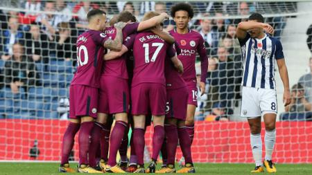 Man City Menang atas WBA. - INDOSPORT
