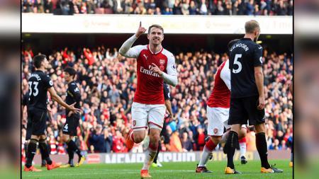 Aaron Ramsey, gelandang serang Arsenal. - INDOSPORT