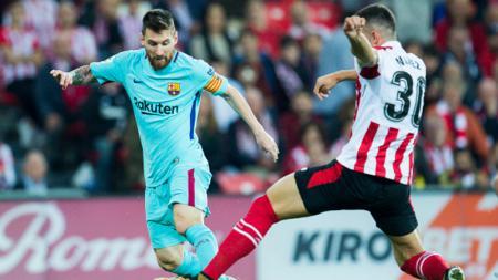 Lionel Messi (kiri) - INDOSPORT