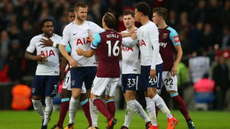 Tottenham Hotspur vs West Ham United. - INDOSPORT