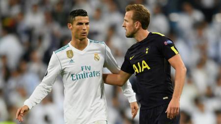 Cristiano Ronaldo dan Harry Kane. - INDOSPORT