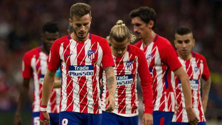 Skuat Atletico Madrid tertunduk lesu. - INDOSPORT
