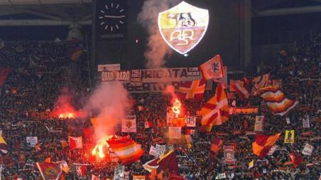 Fans AS Roma. - INDOSPORT