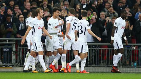 Selebrasi para pemain Tottenham Hotspur. - INDOSPORT