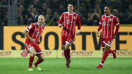 Arjen Robben cetak gol pembuka dalam laga Borussia Dortmund vs Bayern Munchen. - INDOSPORT