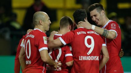 Selebrasi Bayern Munchen. - INDOSPORT