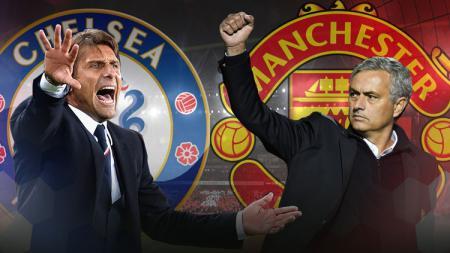 Antonio Conte dan Jose Mourinho. - INDOSPORT