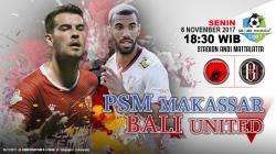 Prediksi PSM Makassar vs Bali United.