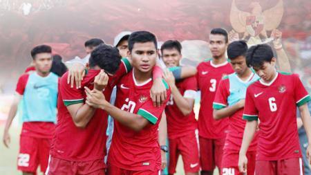 Pemain timnas Indonesia U-19 sangat terpukul setelah kalah dari Malaysia. - INDOSPORT