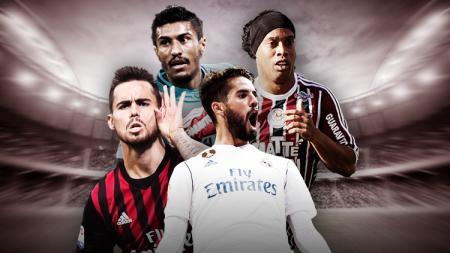 Isco, Ronaldinho, Paulinho, dan Suso. - INDOSPORT