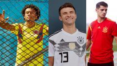 Indosport - Jersey Anyar Kolombia, Jerman, dan Spanyol untuk Piala Dunia 2018.