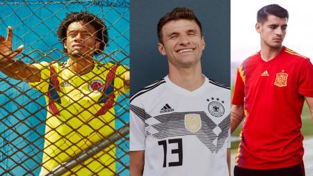 Jersey Anyar Kolombia, Jerman, dan Spanyol untuk Piala Dunia 2018. - INDOSPORT