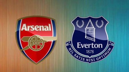 Logo klub Arsenal dan Everton. - INDOSPORT