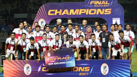 Bali United U-19 keluar sebagai juara tiga.