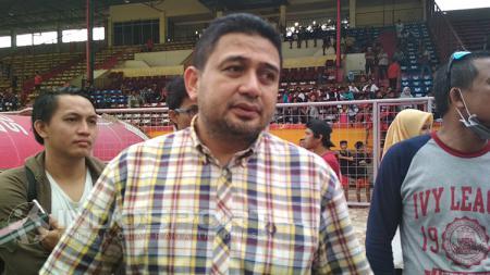 CEO PSM Makassar Munafri Arifuddin mengungkapkan rasa syukur atas keberhasilan lolos ke partai final Kratingdaeng Piala Indonesia. - INDOSPORT