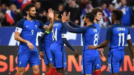 Prancis sukses menang atas Wales dalam sebuah laga persahabatan. - INDOSPORT