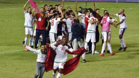 Timnas Maroko lolos ke Piala Dunia 2018. - INDOSPORT