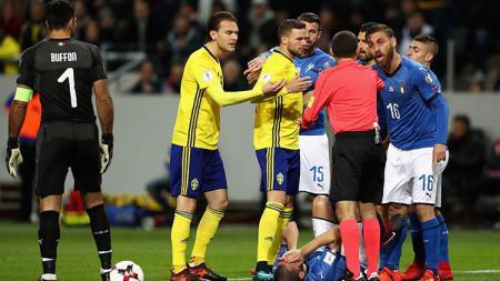 Italia vs Swedia. - INDOSPORT