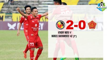 Hasil pertandingan Semen Padang vs PS TNI. - INDOSPORT