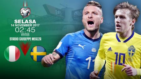 Prediksi Italia vs Swedia. - INDOSPORT