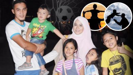 Gunawan Dwi Cahyo dan keluarganya. - INDOSPORT