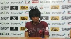 Indosport - Jumpa pers Syamsul Chairuddin usai terakhir kali bermain untuk PSM Makassar.