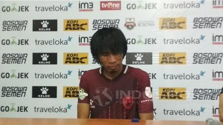 Jumpa pers Syamsul Chairuddin usai terakhir kali bermain untuk PSM Makassar. - INDOSPORT