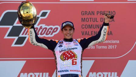 Juara dunia MotoGP 2017, Marc Marquez.