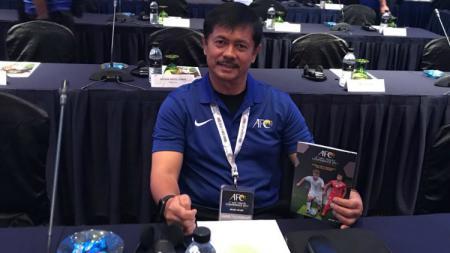 Indra Sjafri dalam acara AFC Conference. - INDOSPORT