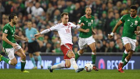 Hattrick Cristian Eriksen ke gawang Irlandia bawa Denmark ke Piala Dunia 2018. - INDOSPORT