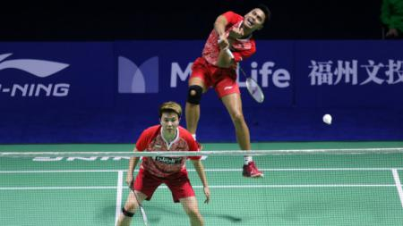 Tontowi Ahmad/Liliyana Natsir di babak pertama China Open 2017. - INDOSPORT