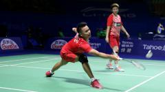 Indosport - Tontowi Ahmad/Liliyana Natsir di babak pertama China Open 2017.