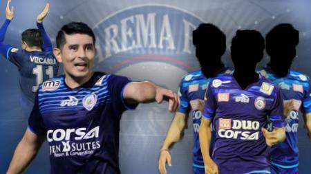 Berikut pemain yang bakal hengkang dari Arema FC setelah Esteban Vizcarra. - INDOSPORT