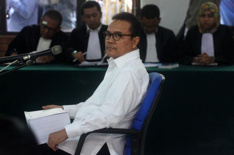 Rusli Zainal saat disidang kasus korupsi dirinya. Copyright: Tempo