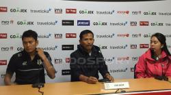 Preskon PSMS Medan setelah laga.