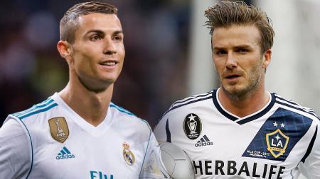 Cristiano Ronaldo dan David Beckham. - INDOSPORT