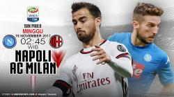 Susunan Pemain Napoli vs AC Milan.