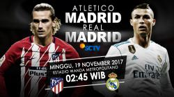 Susunan pemain Atletico Madrid vs Real Madrid.