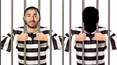 Ilustrasi Karim Benzema dalam penjara. - INDOSPORT