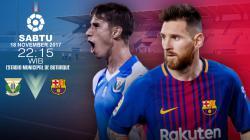 Barcelona berpeluang mengkokohkan posisi mereka di puncak klasemen La Liga Spanyol saat bertandang ke markas Leganes.